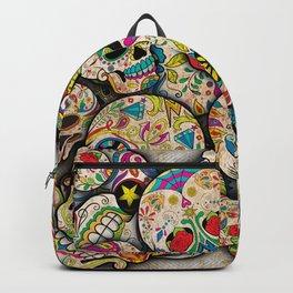 Sugar Skull Collage Backpack