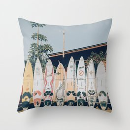 lets surf xv Throw Pillow