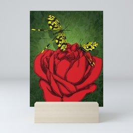 Spoonwings N Roses Mini Art Print