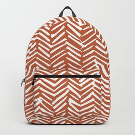 Boho, Herringbone, Mudcloth, Terracotta Backpack