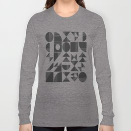 Shape and Line in Black and White Long Sleeve T-shirt