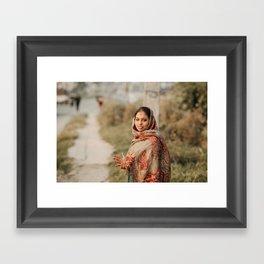Nepali woman Framed Art Print