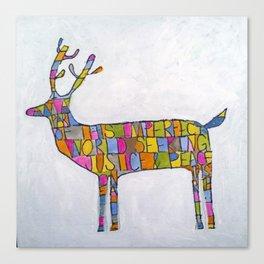 Deer-words Canvas Print