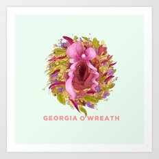 Georgia O'Wreath Art Print