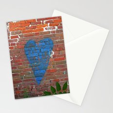 Blue Heart Stationery Cards
