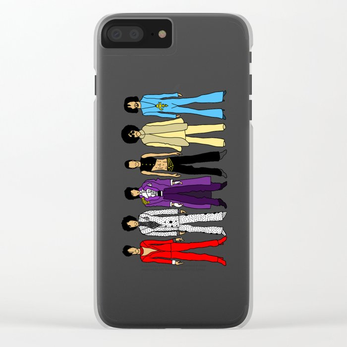 Outfits of Purple Fashion on Purple Clear iPhone Case