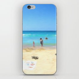 Day At The Beach Looking At The Water iPhone Skin