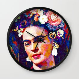 Frida Repro Painting Wall Clock