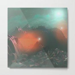 Day 0002 /// Alien Atmos Metal Print