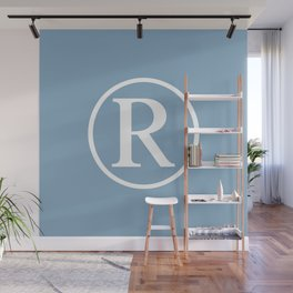 Registered Trademark Sign on placid blue background Wall Mural