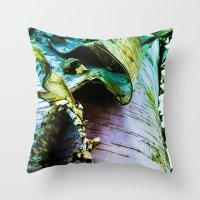 birch Throw Pillows featuring birch by Jeni Decker