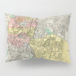 Vintage Map of Pawtucket RI (1900) Pillow Sham