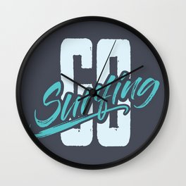 Go Surfing Wall Clock