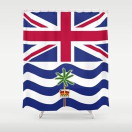 British Indian Ocean Territory flag emblem Shower Curtain