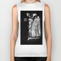 indiana jones Biker Tanks featuring Indiana Jones and the Temple of Doom by Meredith Mackworth-Praed
