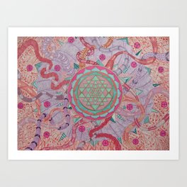 """The wheel of life"" Art Print"
