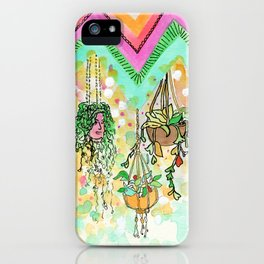 Hanging Plants with Robert Plant iPhone Case