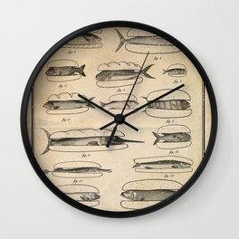 Fishers' menu Wall Clock