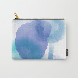 Shady Blue Droplets Carry-All Pouch