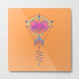 Symbol Art:  Lotus Magic Metal Print