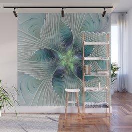 A Floral Fantasy, Abstract Fractal Art Wall Mural