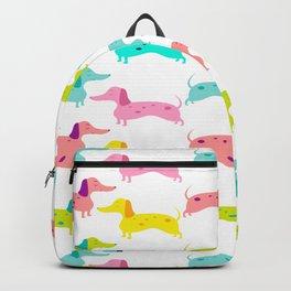 Dapple Dachshund Love: Rainbow Backpack