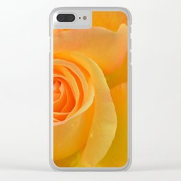 Warm Yellow Rose Clear iPhone Case