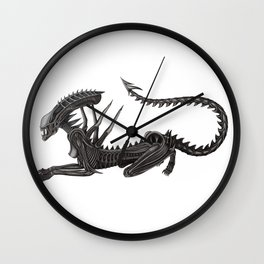 Xenomorph Warrior Babe Wall Clock