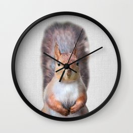 Squirrel - Colorful Wall Clock