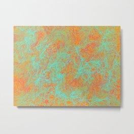 River Print - Yellow Green & Orange Palette Metal Print