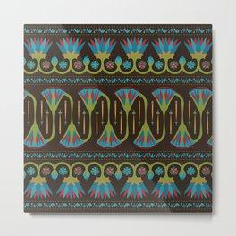 Egyptian Floral Border Pattern 1 Metal Print