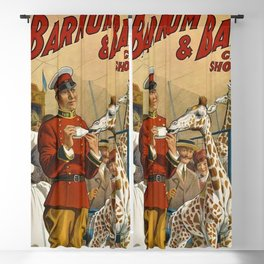 19th Century Barnum & Bailey Circus The only baby giraffe in America Vintage Poster Blackout Curtain