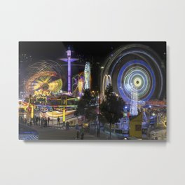 Fairground Attraction panorama Metal Print