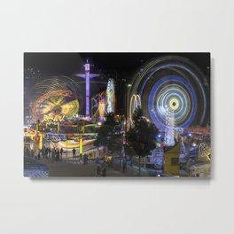 Fairground Attraction panorama Metal Print