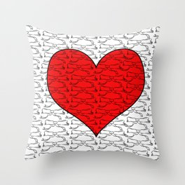 Heart of Laces Throw Pillow