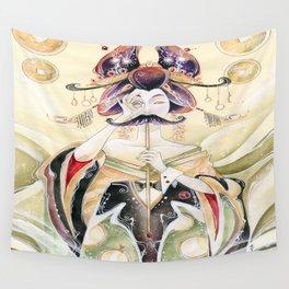 Mustachioed Oiran  Wall Tapestry