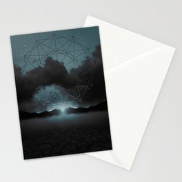 Beyond the Fog Lies Clarity   Midnight Stationery Cards