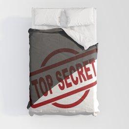 Top Secret Half Covered Ink Stamp Comforters