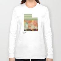 utah Long Sleeve T-shirts featuring Utah state map by bri.b