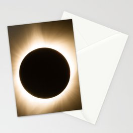 Totality - 2017 Total Solar Eclipse with Golden Corona Stationery Cards