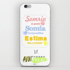 {CAT} SOMRIU · SOMIA · ESTIMA iPhone & iPod Skin