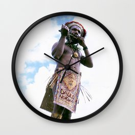 Papua New Guinea Man Wall Clock