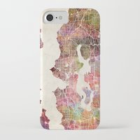 seattle iPhone & iPod Cases featuring Seattle by MapMapMaps.Watercolors