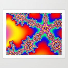 Colorful Fractal #2 (Star) Art Print