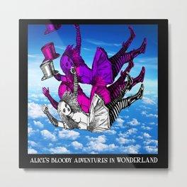 Alice Falling Metal Print