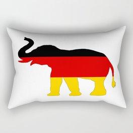German Flag - Elephant Rectangular Pillow