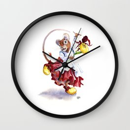 Mouse Slippers Wall Clock