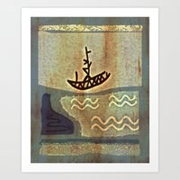 boat Art Prints featuring Boat by Menchulica