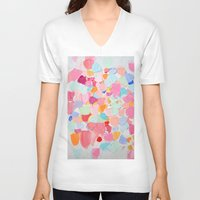 confetti V-neck T-shirts featuring Amoebic Confetti by Ann Marie Coolick