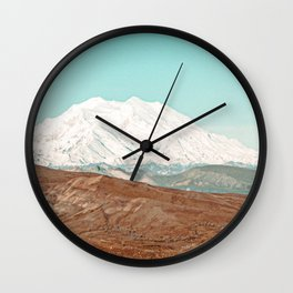 White Cap // Grainy Photograph Backpacking Before the Winter above Tree Line Wall Clock